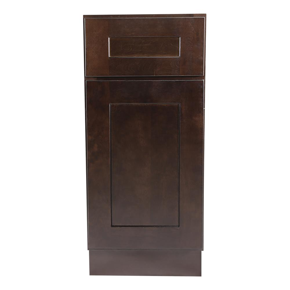 Design house brookings fully assembled 15x34 5x24 in kitchen base cabinet in espresso