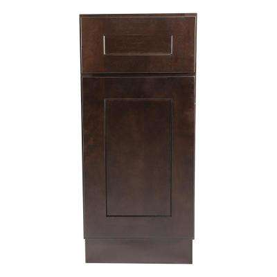 Brookings Fully Assembled 15x34.5x24 in. Kitchen Base Cabinet in Espresso