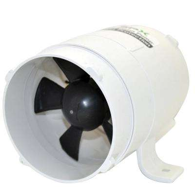 4 in. Inlet/Outlet 240 CFm In-Line Bilge Blower