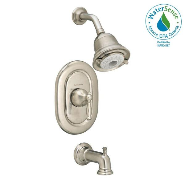 American Standard Quentin Flowise Pressure Balance 1 Handle Tub And Shower Faucet Trim Kit In Brushed Nickel Valve Sold Separately T440508 295 The Home Depot