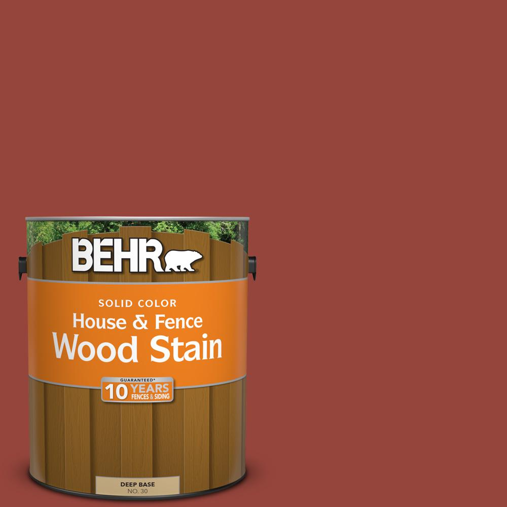 1 gal. #PPU2-17 Morocco Red Solid House and Fence Wood Stain