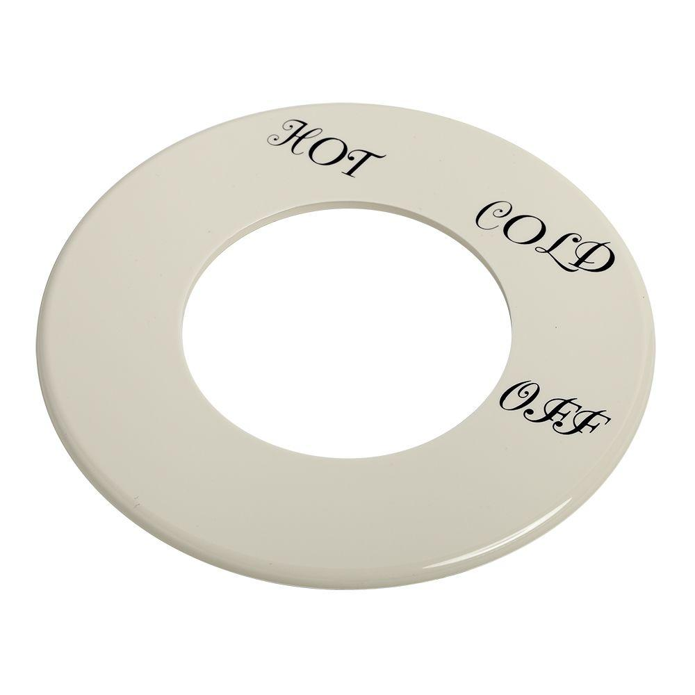 American Standard Dial Plate with Hot Cold and Off, White