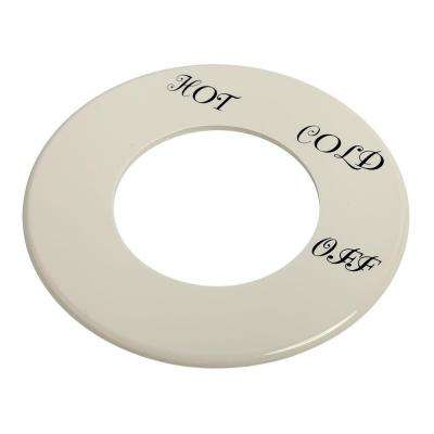 Dial Plate with Hot Cold and Off, White
