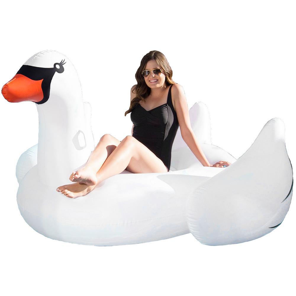 Jumbo Swan Swimming Pool Float