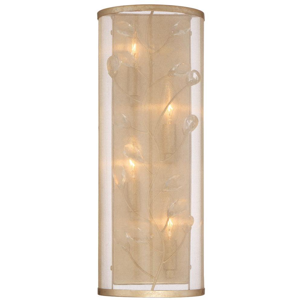 Sara's Jewel 4-Light Nanti Champagne Silver Wall Sconce