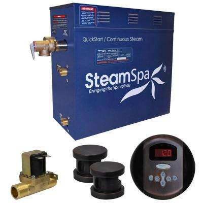 Oasis 10.5kW QuickStart Steam Bath Generator Package with Built-In Auto Drain in Oil Rubbed Bronze