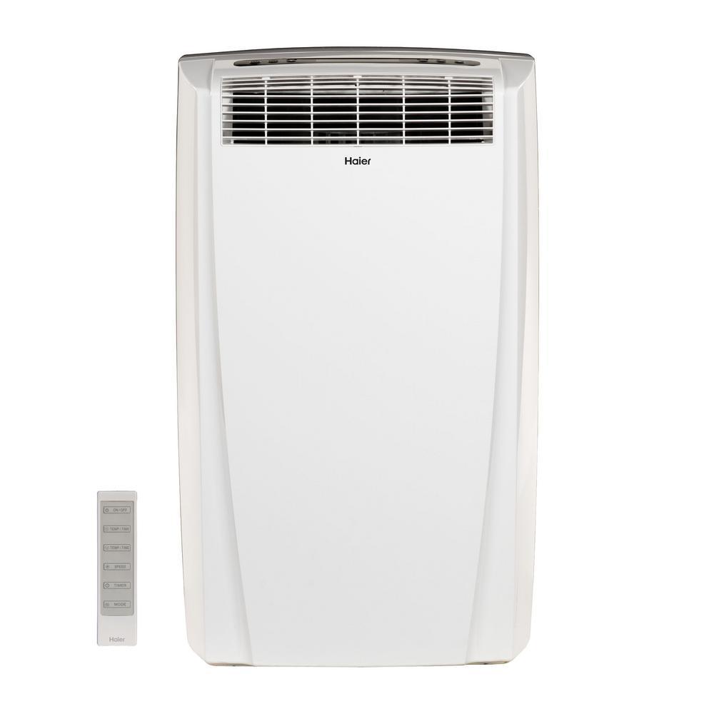 Haier 10000 BTU 115 Volt Portable Air Conditioner With Dehumidifier In White