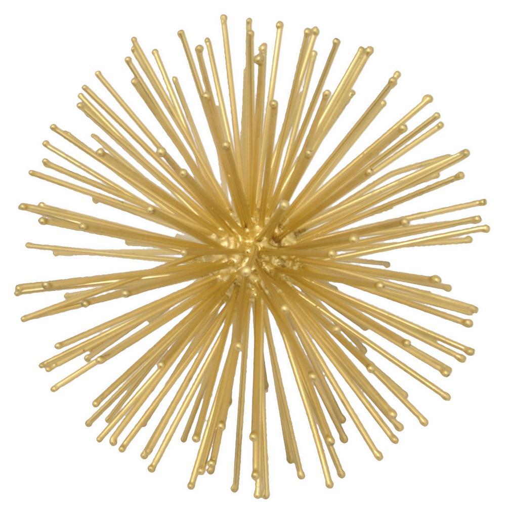 8 in. Starburst Orb in Brass
