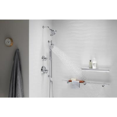 Bancroft 3-Spray 5.2 in. Triple Wall Mount Handheld Shower Head in Polished Chrome