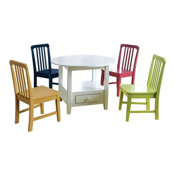 Furniture Of America Shey 5 Piece Multi Youth Dining Set
