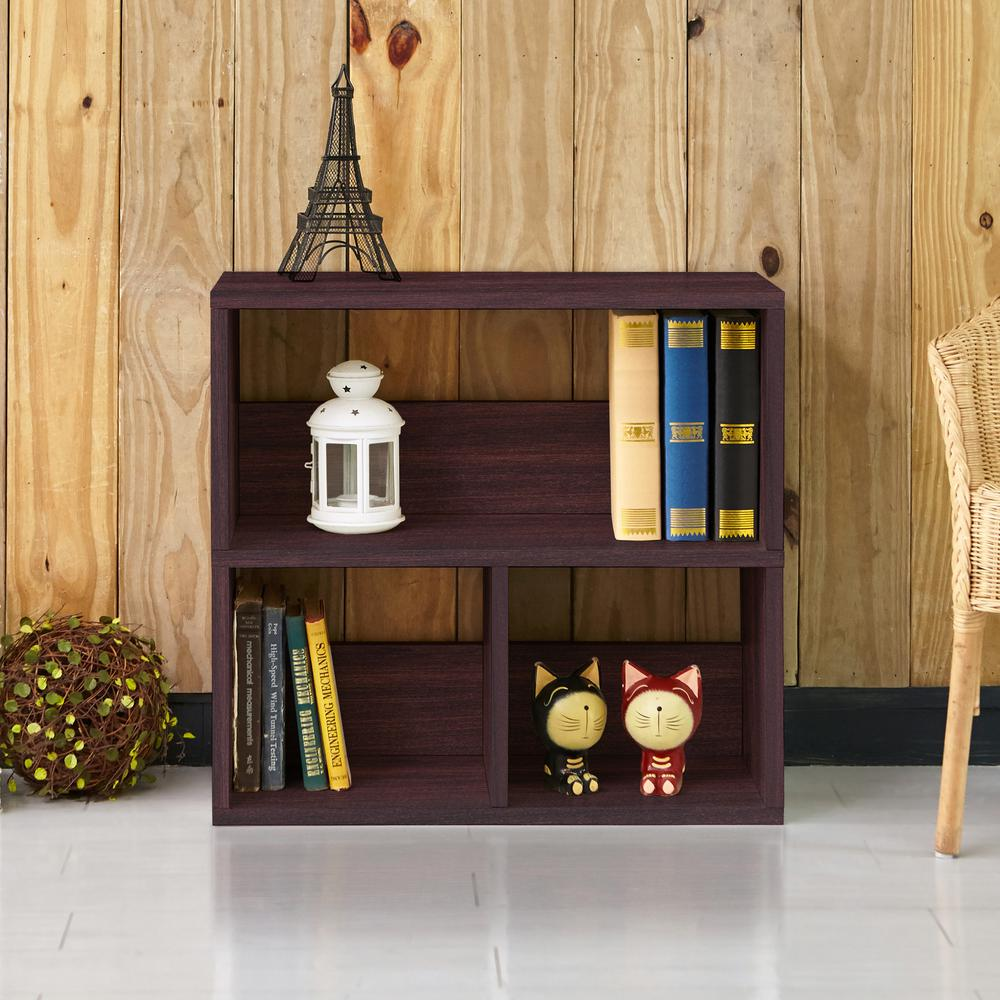Collins 2-Shelf Espresso Eco zBoard Stackable Tool-Free Assembly Bookcase