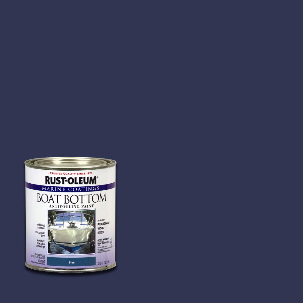 1 qt. Blue Flat Boat Bottom Antifouling Paint (Case of 4)