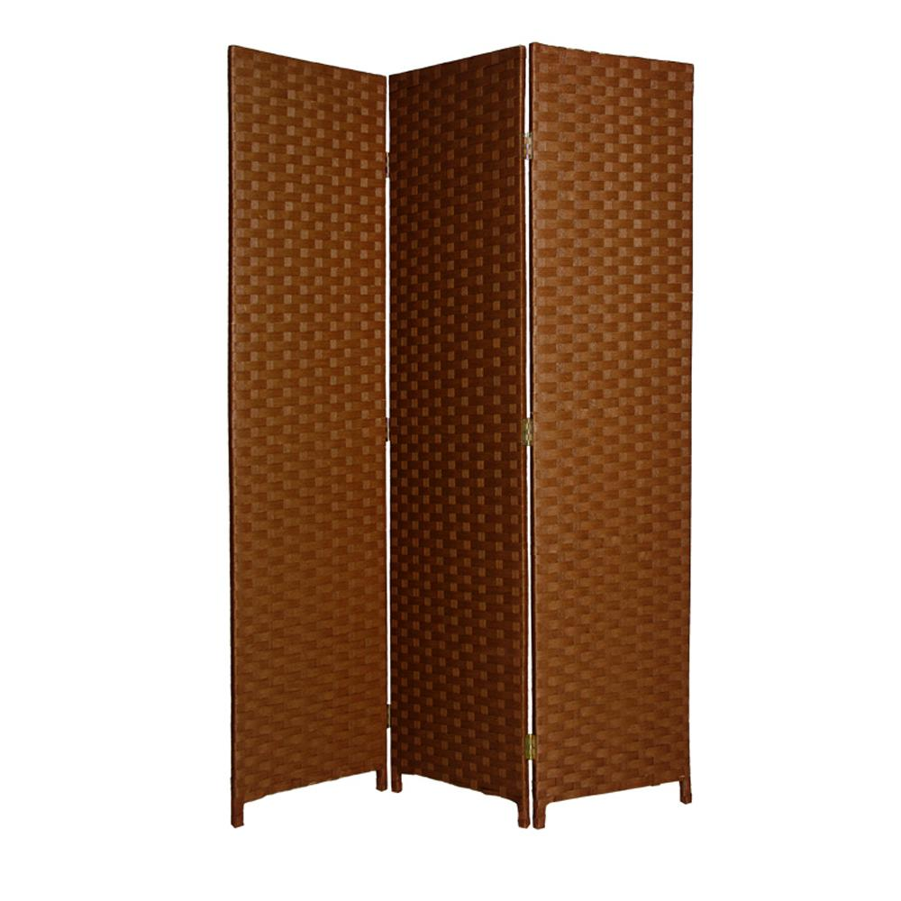 Pensacola 6 Ft Dark Brown 3 Panel Room Divider Sg 68 Db