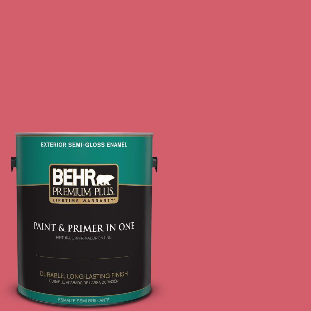 1-gal. #140B-6 Italiano Rose Semi-Gloss Enamel Exterior Paint