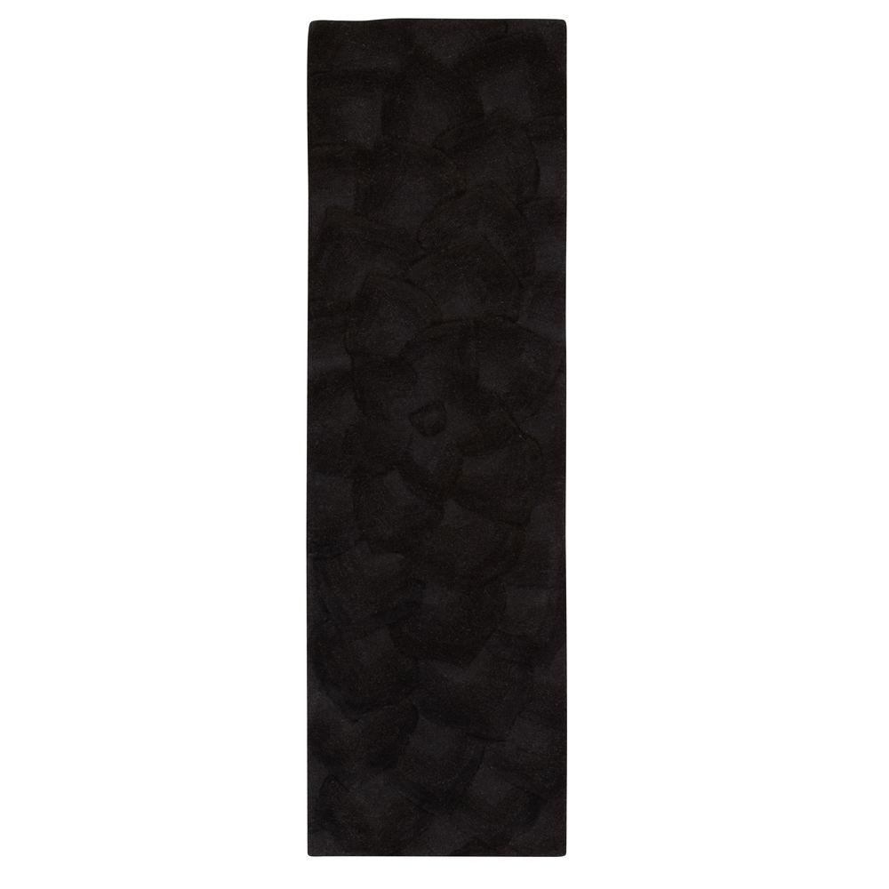 Home Decorators Collection Corolla Black 2 ft. 6 in. x 14 ft. Rug Runner
