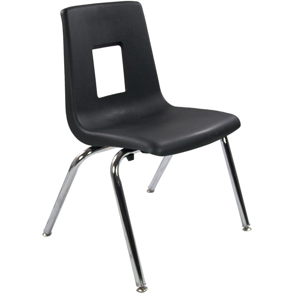 16 in. Black Student Stack School Chair