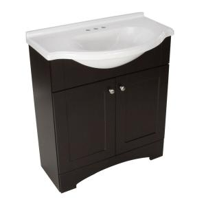 Glacier Bay Del Mar 30 inch W x 19 inch D Bath Vanity in Espresso with AB Engineered Composite Vanity Top by Glacier Bay