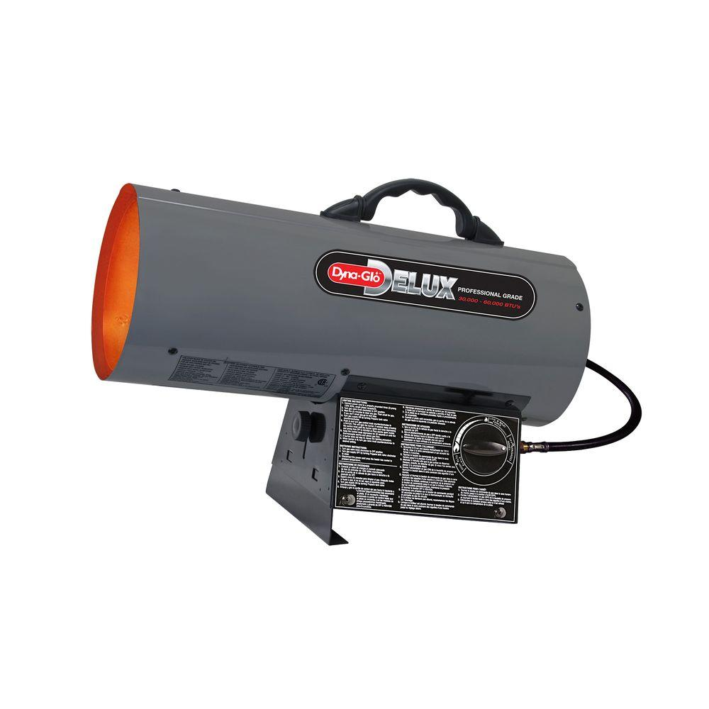 Dyna Glo Delux 30K   60K BTU LP Forced Air Propane Portable Heater