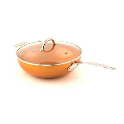 Non-Stick Wok with Lid, 12 in. with Riveted Steel Handle