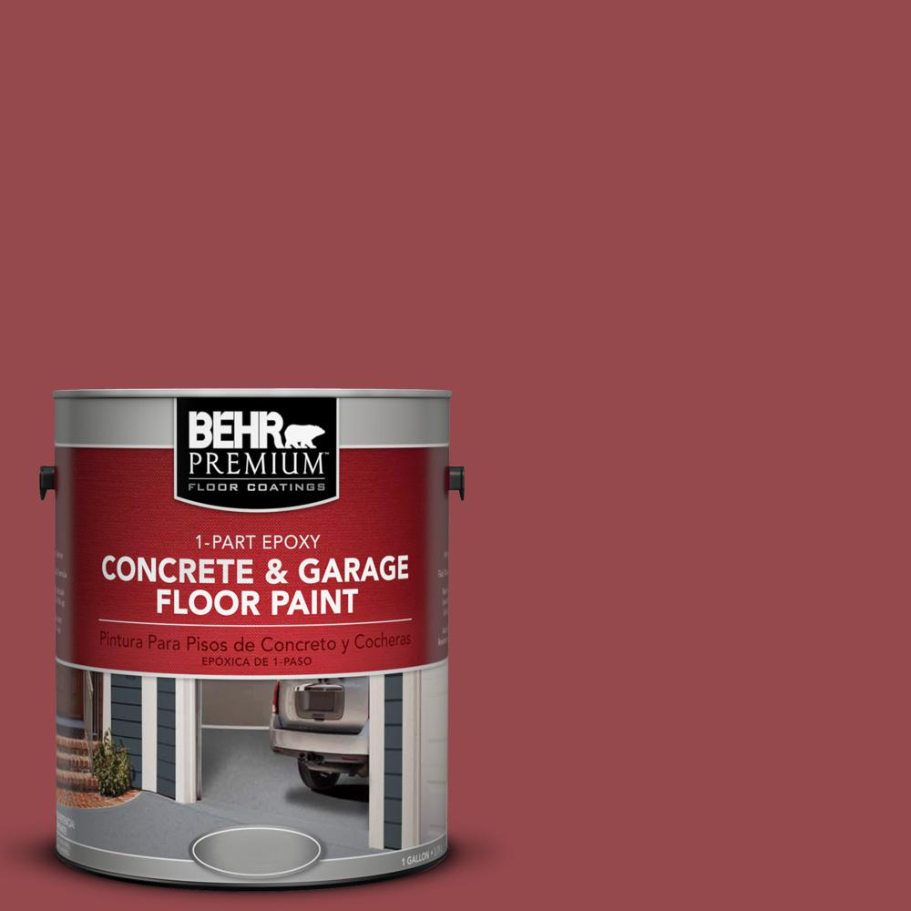 1 gal. #M140-6 Circus Red 1-Part Epoxy Concrete and Garage Floor