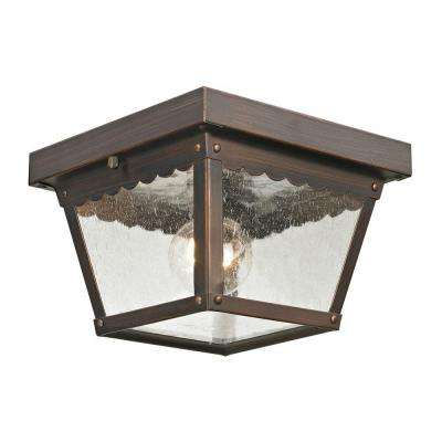 Springfield 1-Light Outdoor Hazelnut Bronze Flush Mount