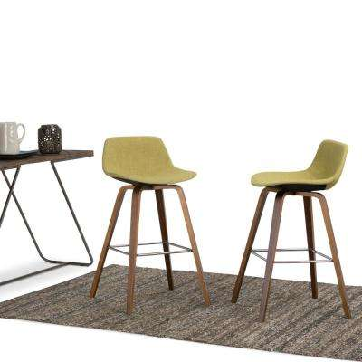 Randolph 36.61 in. Acid Green and Natural Bentwood Bar Stool (Set of 2)