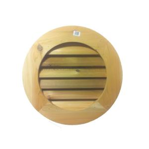Al S Millworks 18 In Wood Round Louver Gable Vent V 103