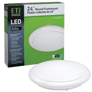 Deals on ETi 24 in. White Round LED Flush Mount Ceiling Light 2810 Lumens