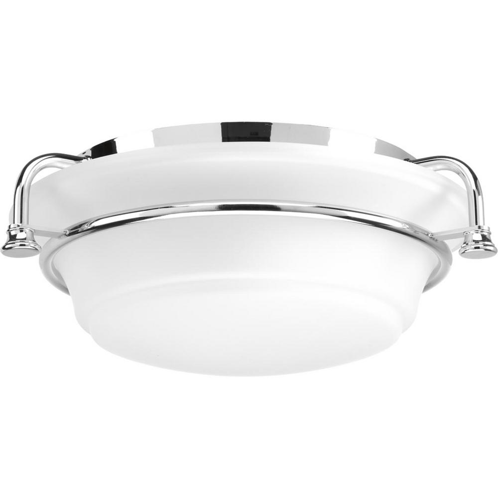 Progress Lighting Tinsley Collection 2-Light Polished Chrome Flush Mount