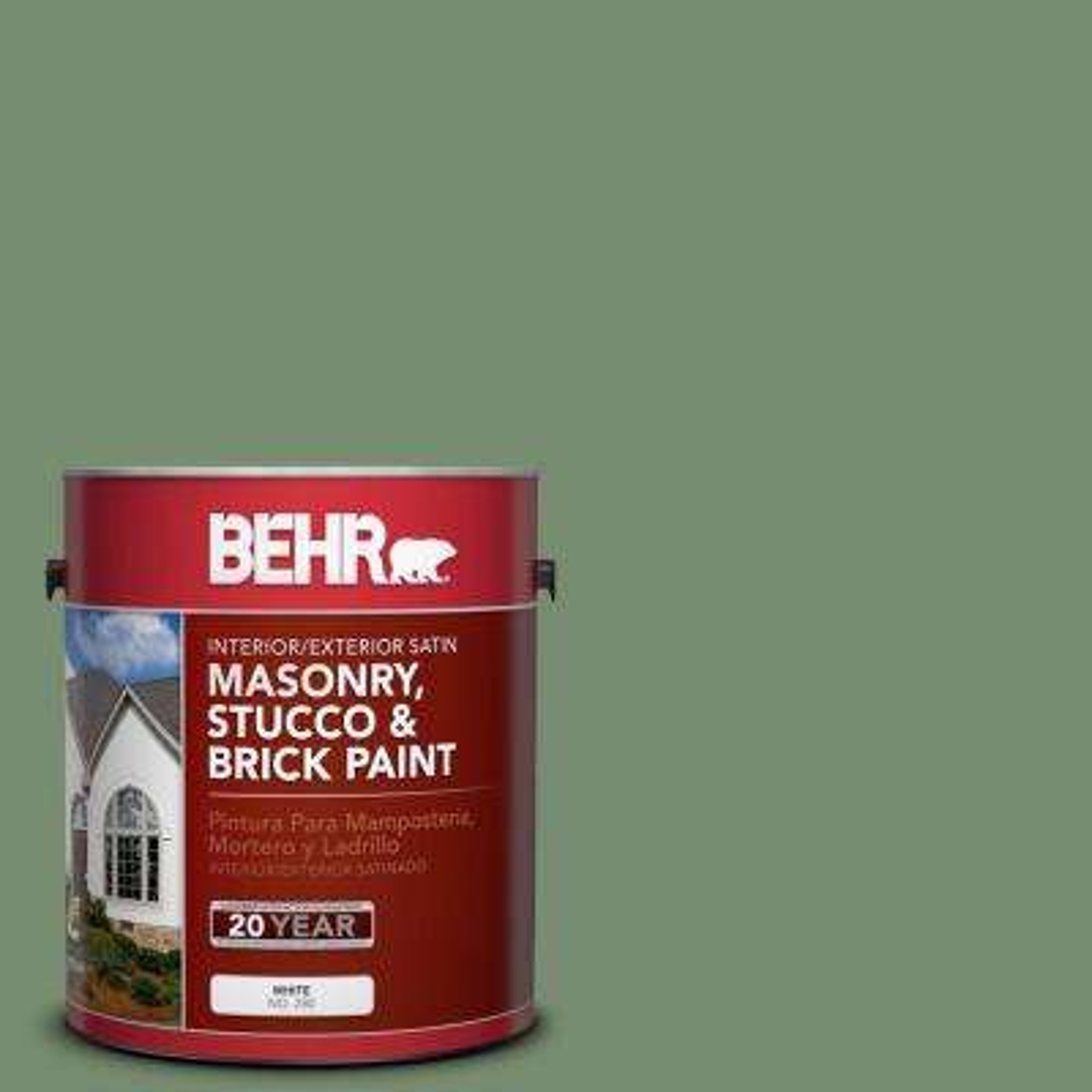 1 gal. #PPU11-2 Shallot Bulb Satin Interior/Exterior Masonry, Stucco and Brick Paint