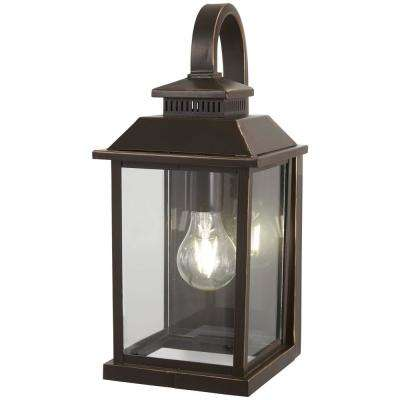 Miner's Loft 1-Light Oil Rubbed Bronze with Gold Highlights Outdoor Wall Mount Lantern