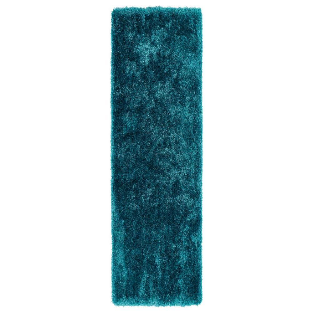 Kaleen Posh Teal 2 ft. 3 in. x 8 ft. Runner
