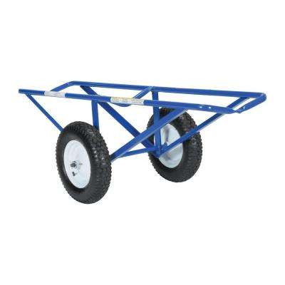 61 in. x 25 in. Portable Carpet Dolly with Pneumatic Wheels