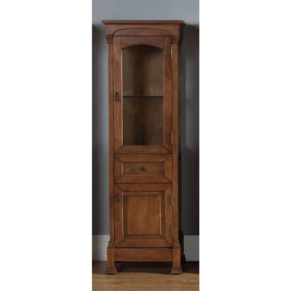 Brookfield 20.50 in. W x 16.25 in. D x 65 in. H Double Door Floor Cabinet in Country Oak