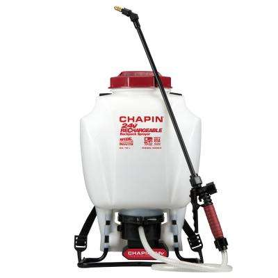 4 Gal. Rechargeable 24-Volt Lithium-Ion Battery Powered Backpack Sprayer