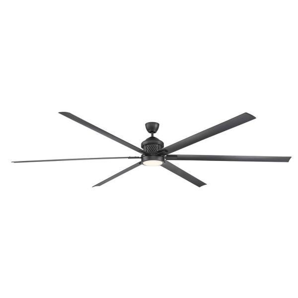 Royalty 120 in. LED Indoor/Outdoor Natural Iron Ceiling Fan with Light and Remote Control