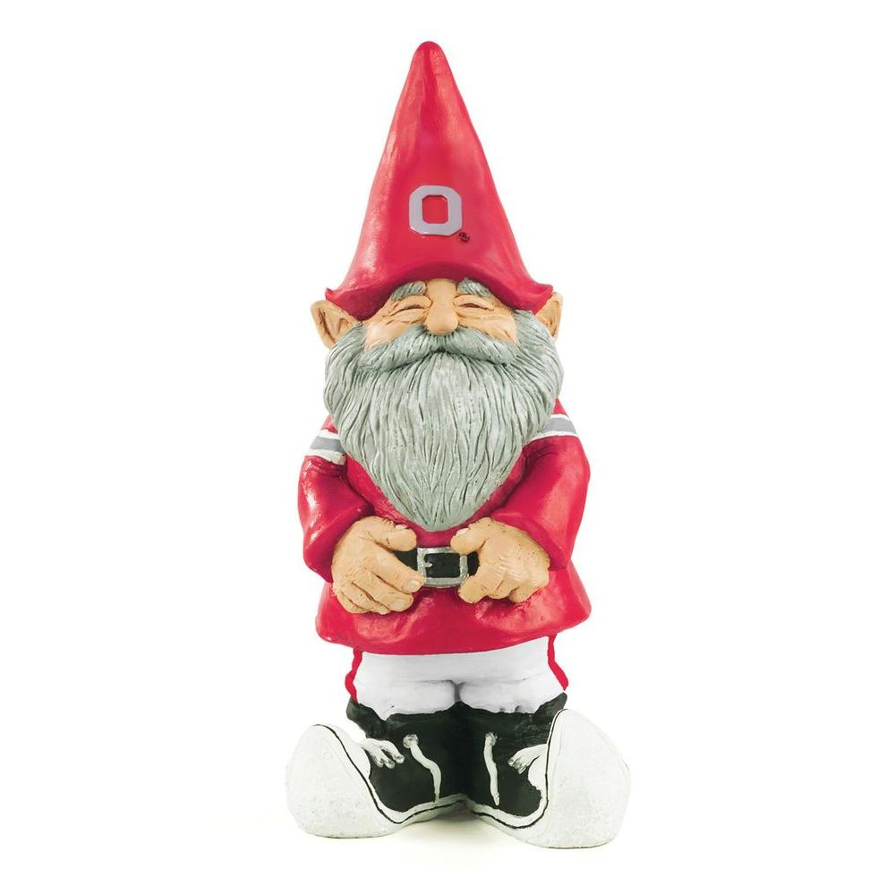 Evergreen Enterprises 11-1/4 in. Ohio State University Garden Gnome-DISCONTINUED