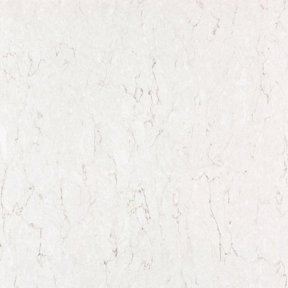 Silestone 2 in quartz countertop sample in snowy ibiza ss for Seamless quartz countertops