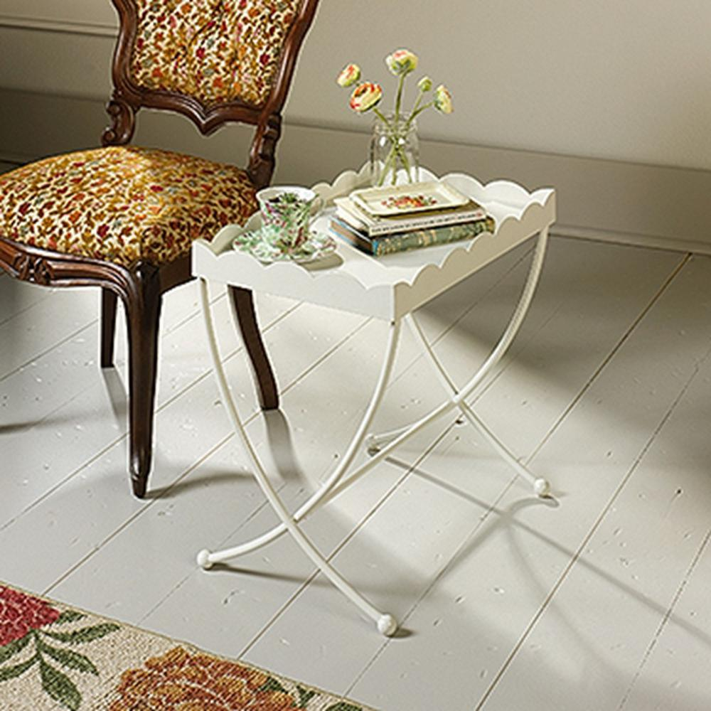SAUDER Eden Rue Cream Metal End/Side Table