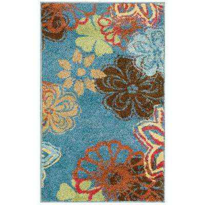Perception Blue 2 ft. 3 in. x 3 ft. 9 in. Accent Rug