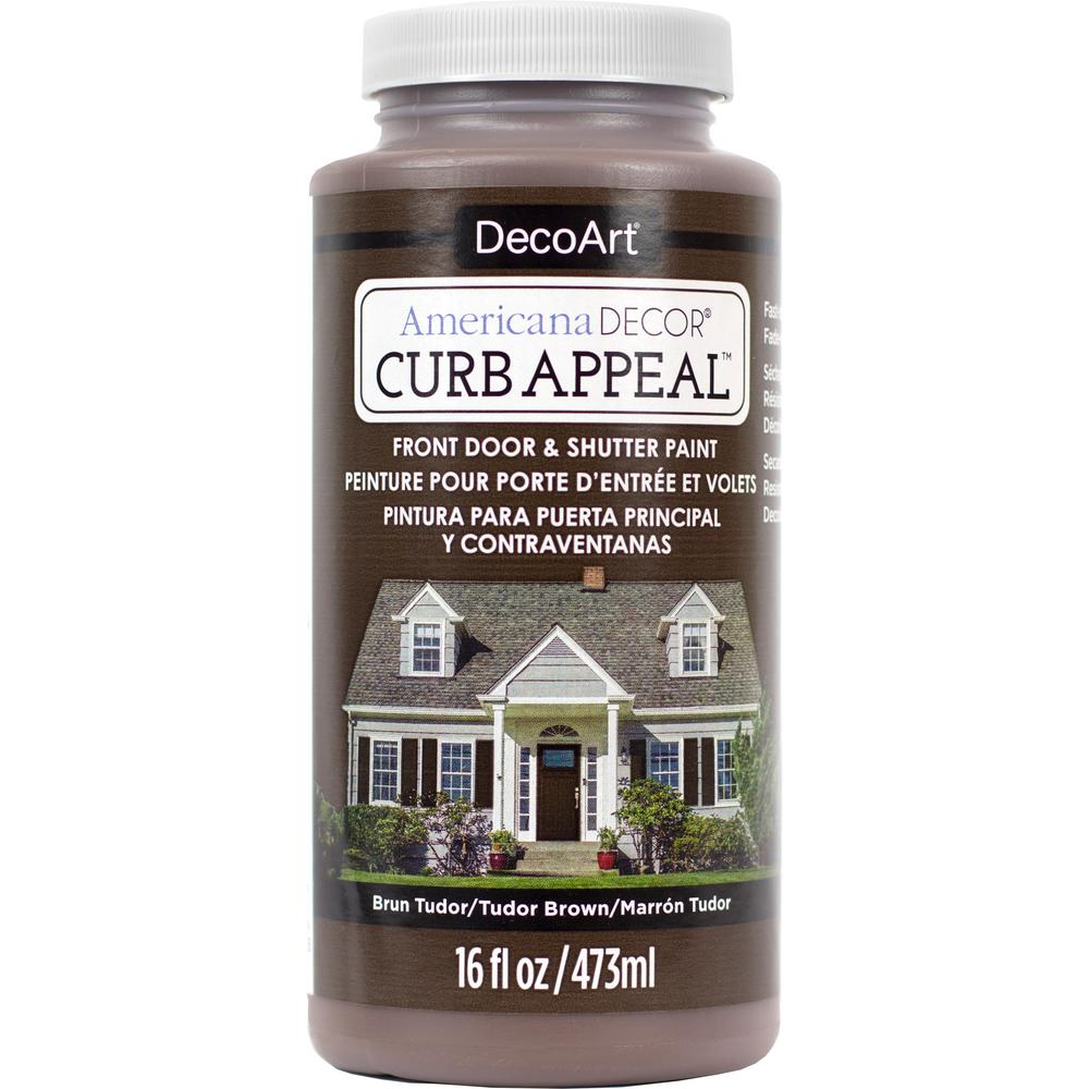Americana Decor Curb Appeal 16 oz. Tudor Brown Paint