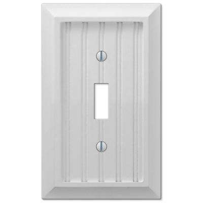 Cottage 1 Gang Toggle Composite Wall Plate - White