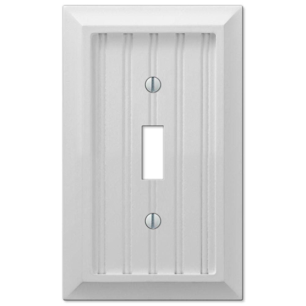 Cottage 1 Toggle Wall Plate - White Composite Wood