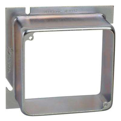 1-Gang 5 in. Square to 4 in. Square Metal Electrical Box Extension Ring - 1-1/2 in. (10 per Case)
