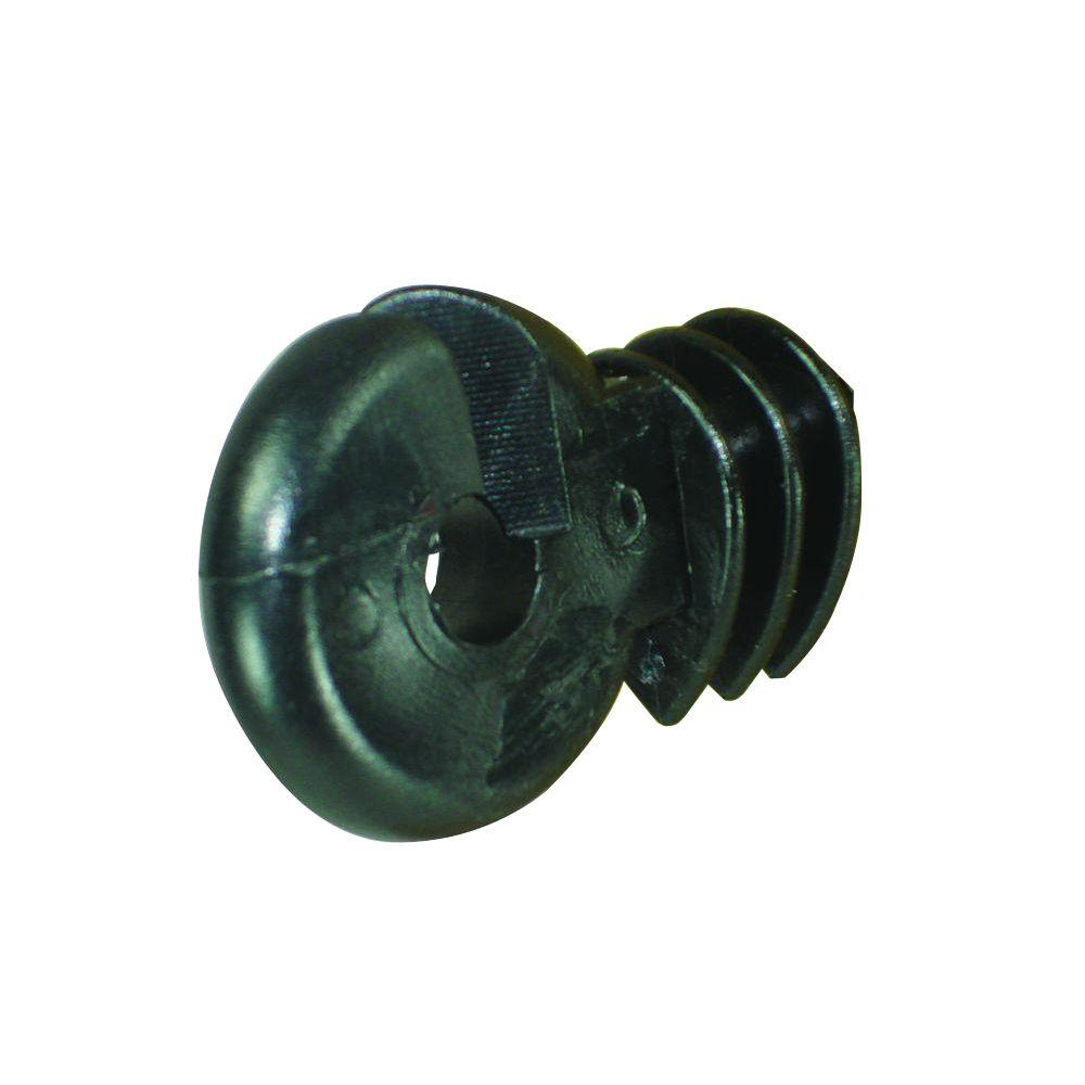 Wood Post - Screw in Ring Insulator - Polyrope - Black