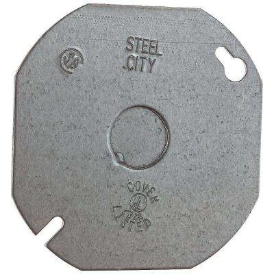 4 in. Octagon Flat Cover with 1/2 in. Knockout (Case of 25)