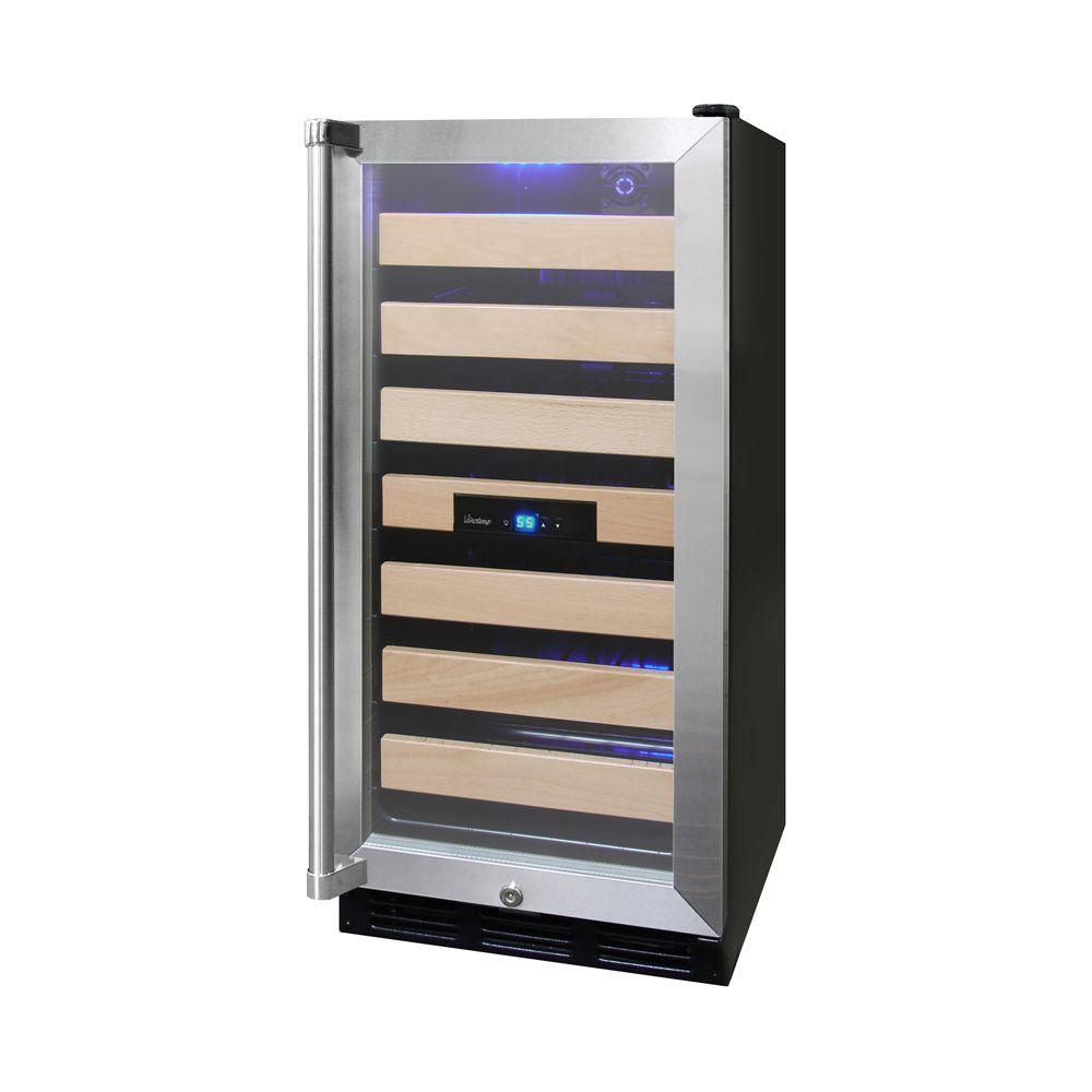 26-Bottle Convertible Wine Cooler with Interior Display