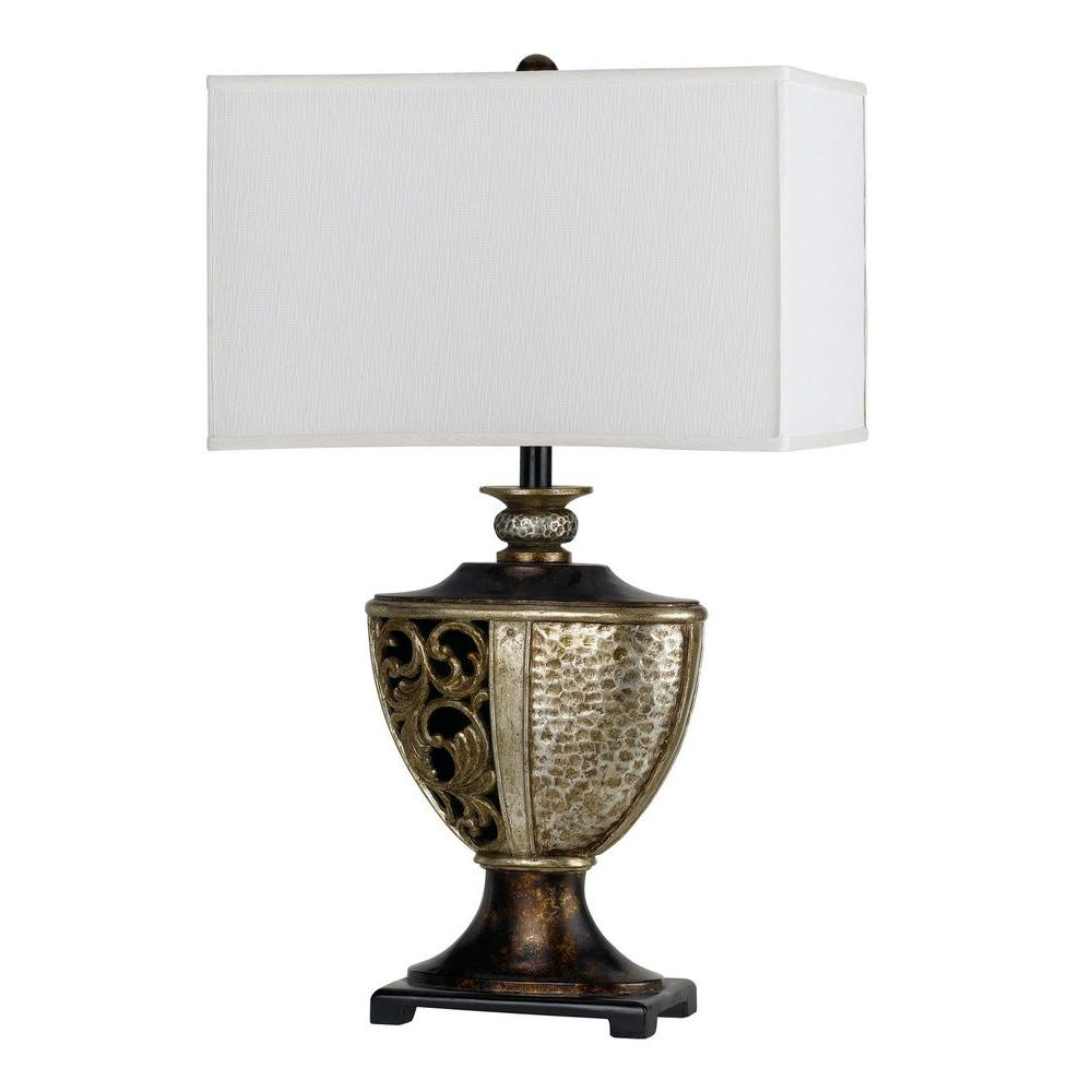 CAL Lighting Andria 30 in. Argent Resin Table Lamp