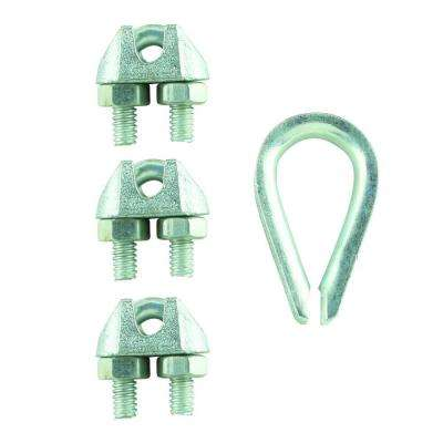 3/16 in. Zinc-Plated Clamp Set (4-Pack)
