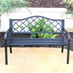 50 in. Steel Outdoor Patio Porch Chair Loveseat Bench